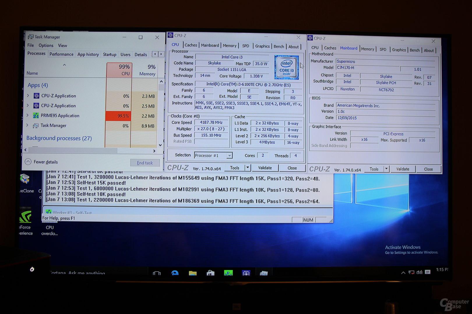 BLCK-Overclocking auf Supermicros H170-Board – soll auch auf dem C7Z170-OCE klappen