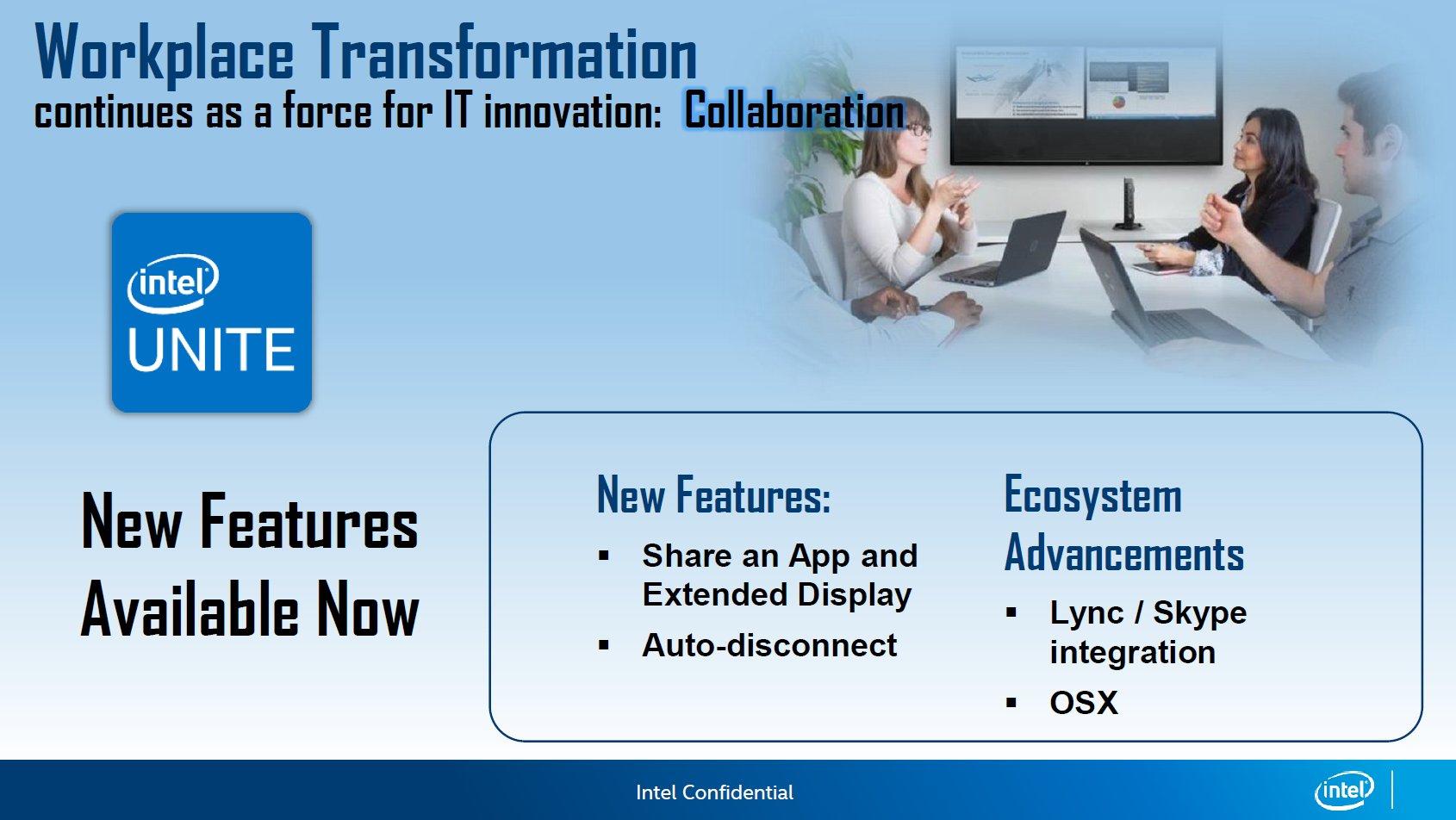 Intel Unite mit neuen Features