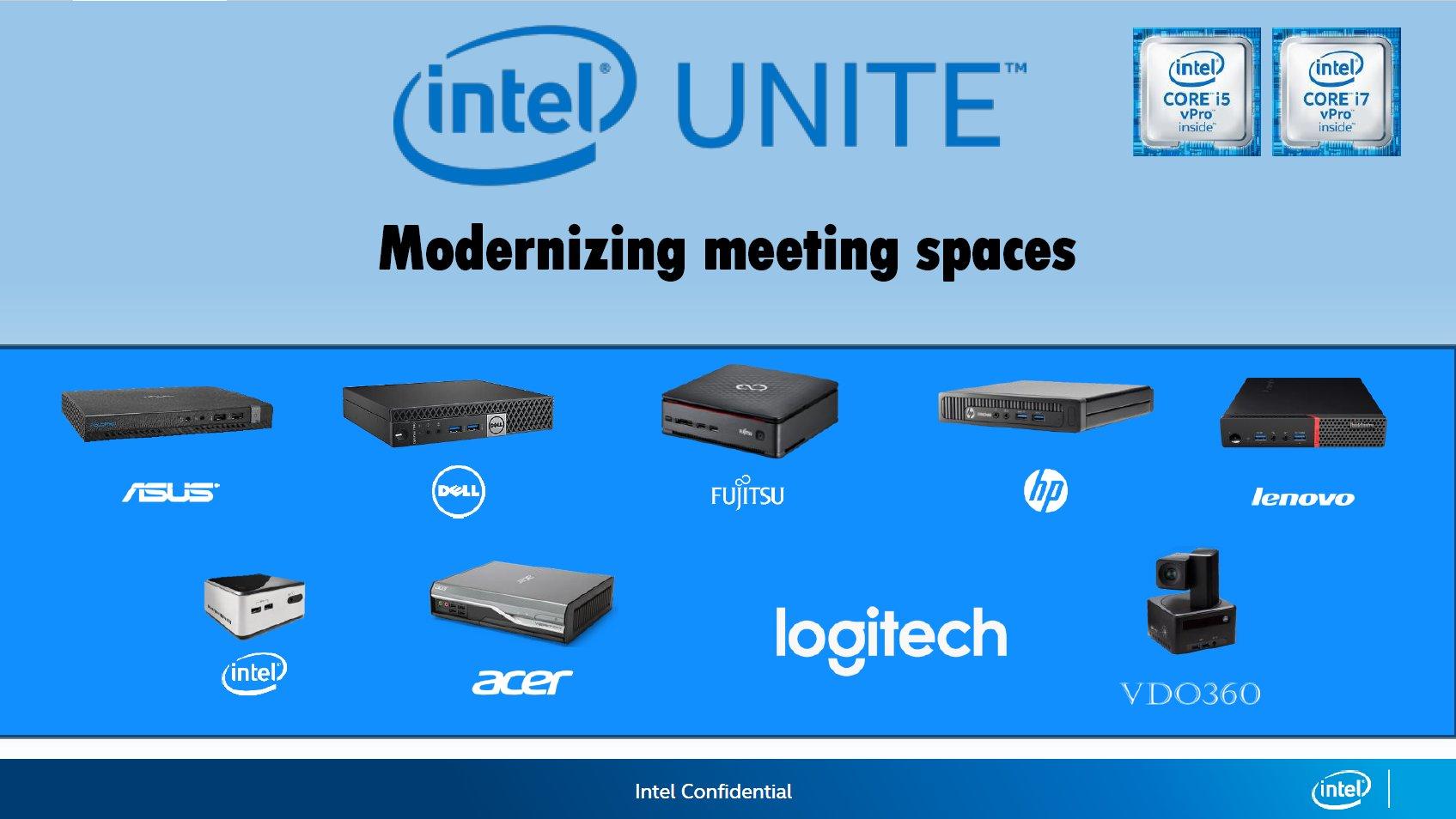 Intel Unite mit Support von diversen Herstellern