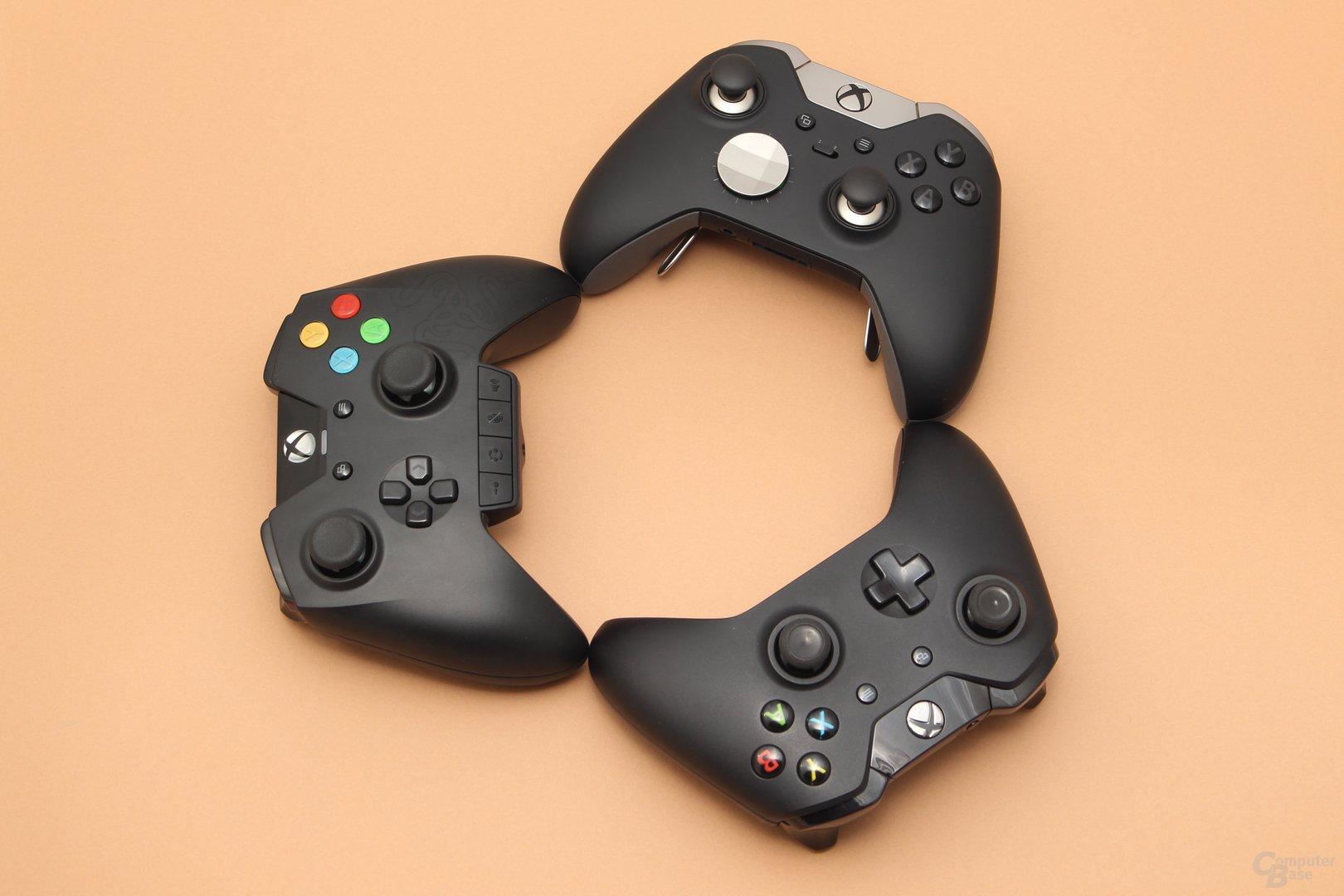 Razer Wildcat, Xbox Elite und Xbox Standard im Test