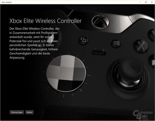 """Die """"Xbox Zubehör""""-App kann auf dem PC nur mit Elite Controller genutzt werden"""