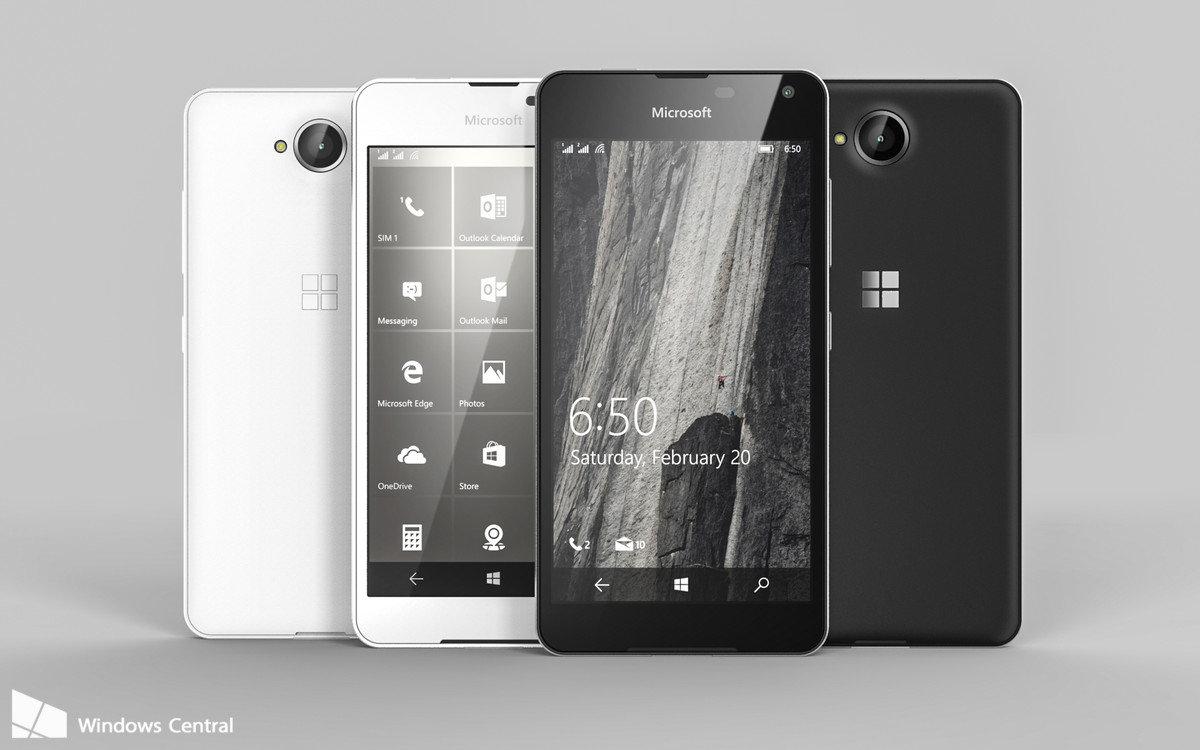 Rendering des Microsoft Lumia 650