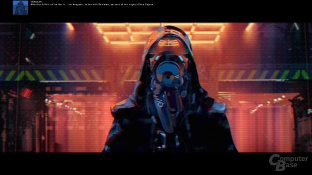 Der Antagonist trägt Maske aber ansonsten nicht auf