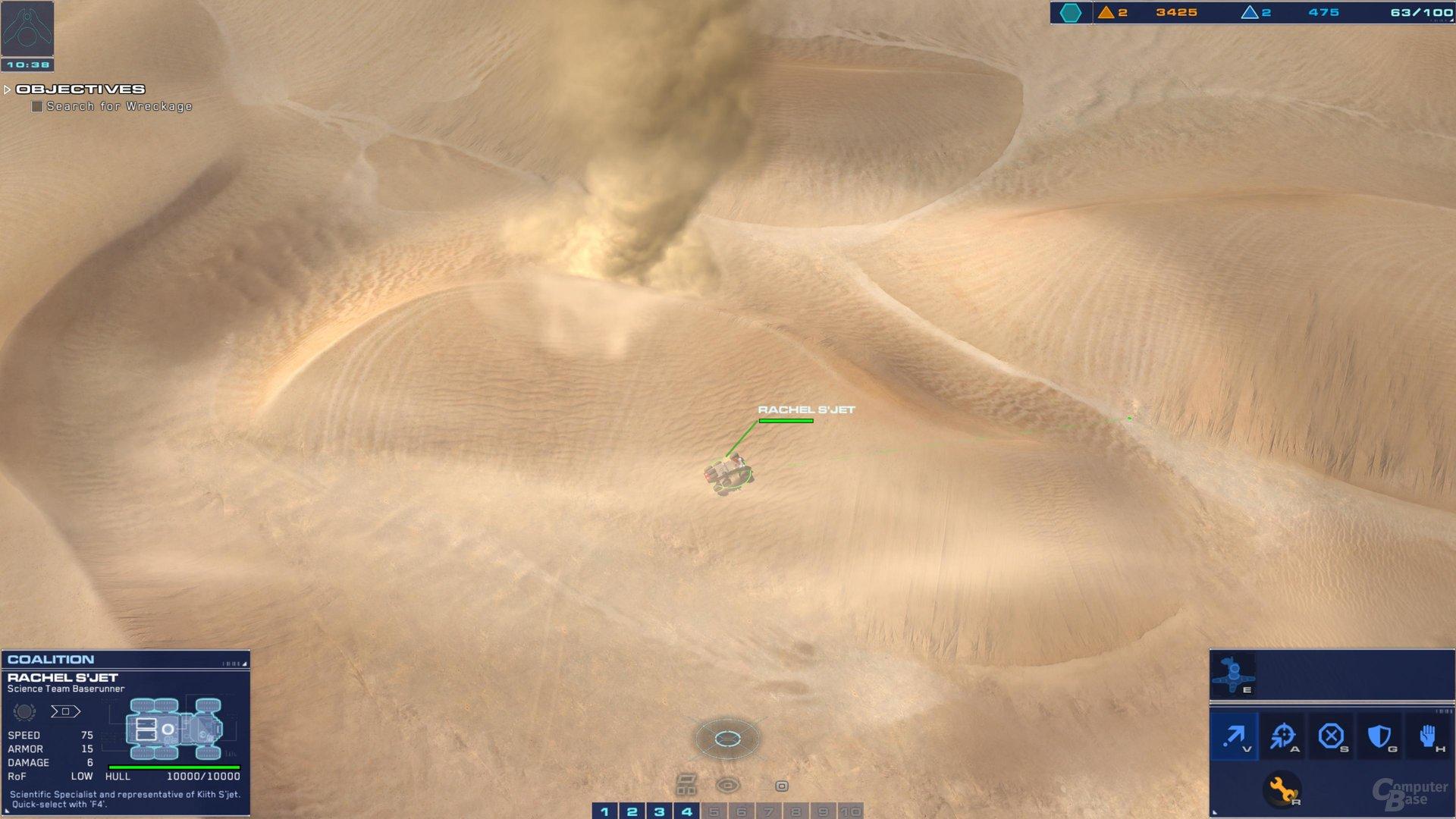 Die Sandstürme sind keine große Gefahr