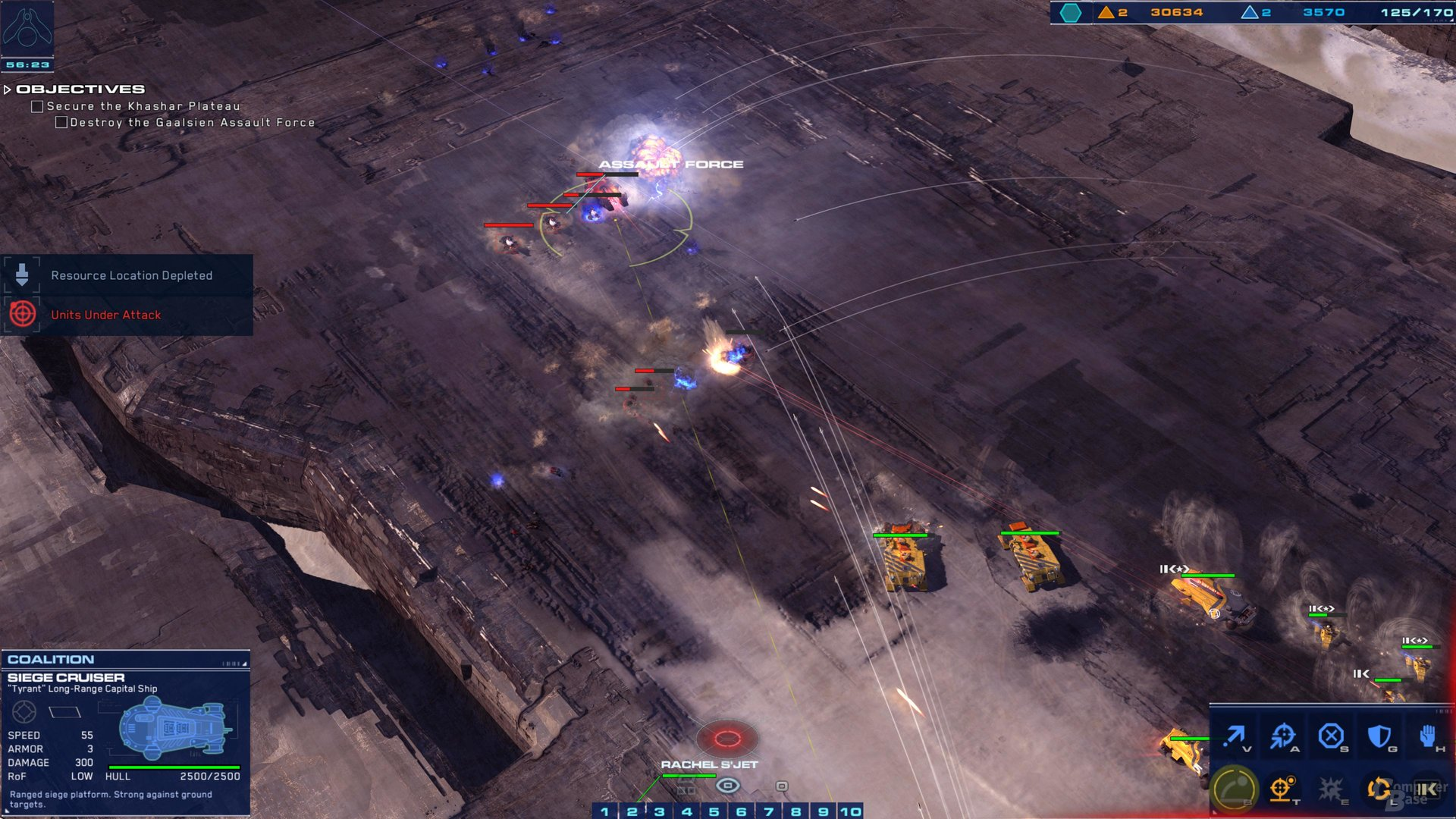 Klotzige Schlachtkreuzer und Artillerie im Einsatz