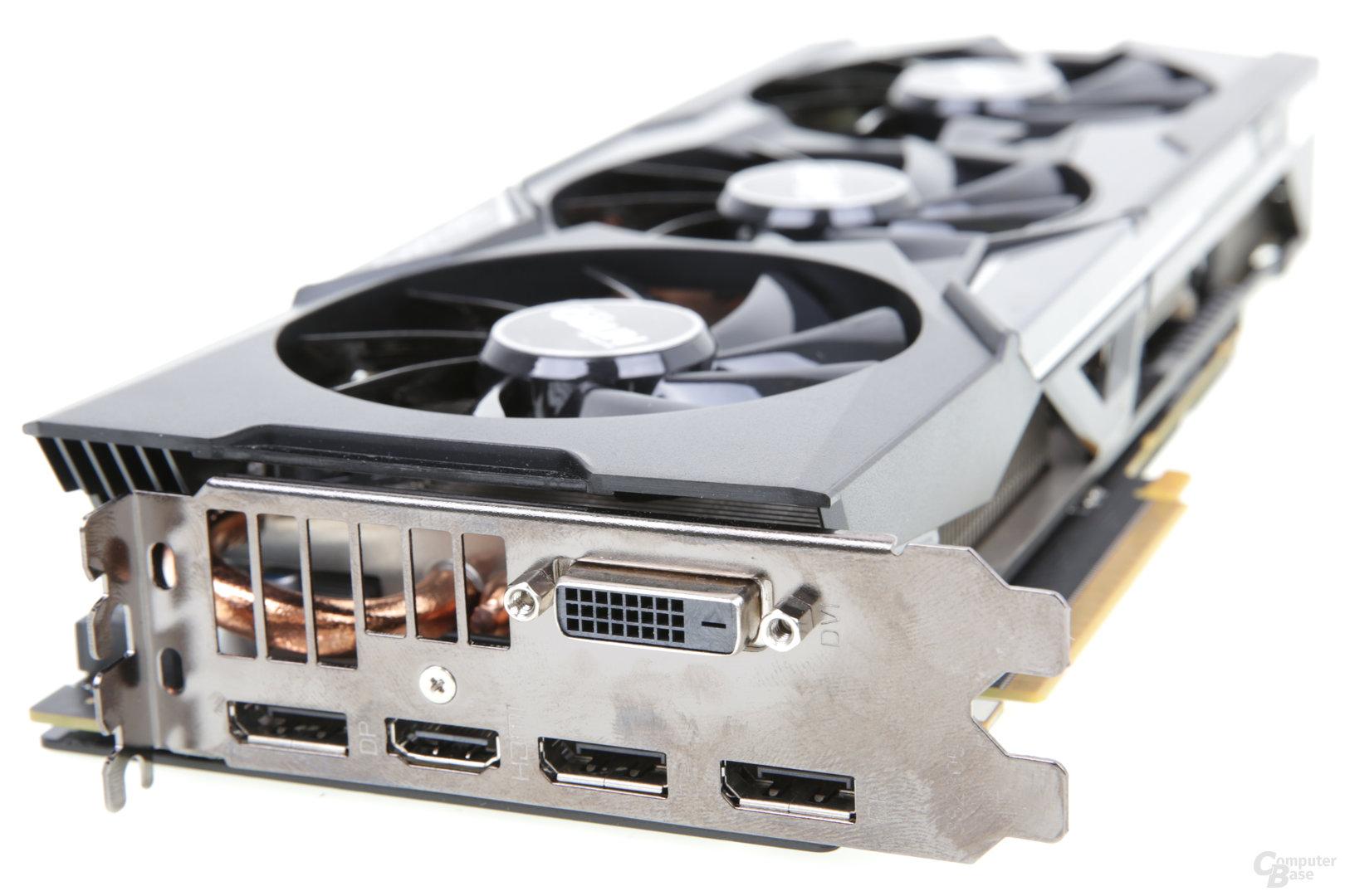 Sapphire Radeon R9 Fury Nitro OC+ – Monitoranschlüsse