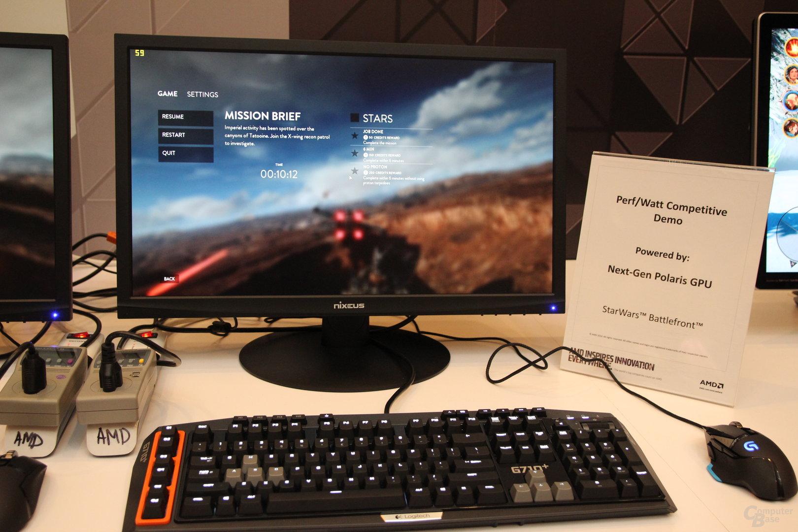 AMD-Polaris-System zur CES 2016