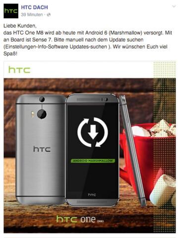 HTC One M8 erhält Android 6.0