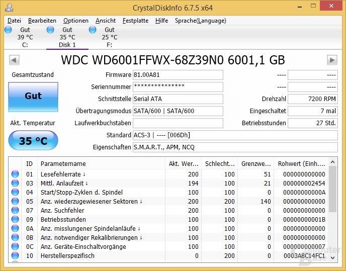 CrystalDiskInfo: WD Red Pro 6TB