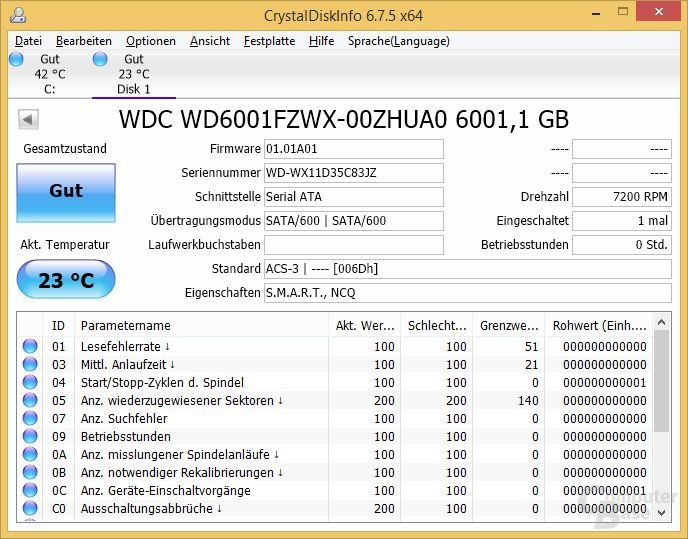 CrystalDiskInfo: WD Black 6TB