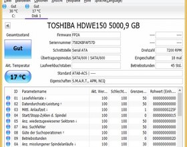 CrystalDiskInfo: Toshiba X300 5TB