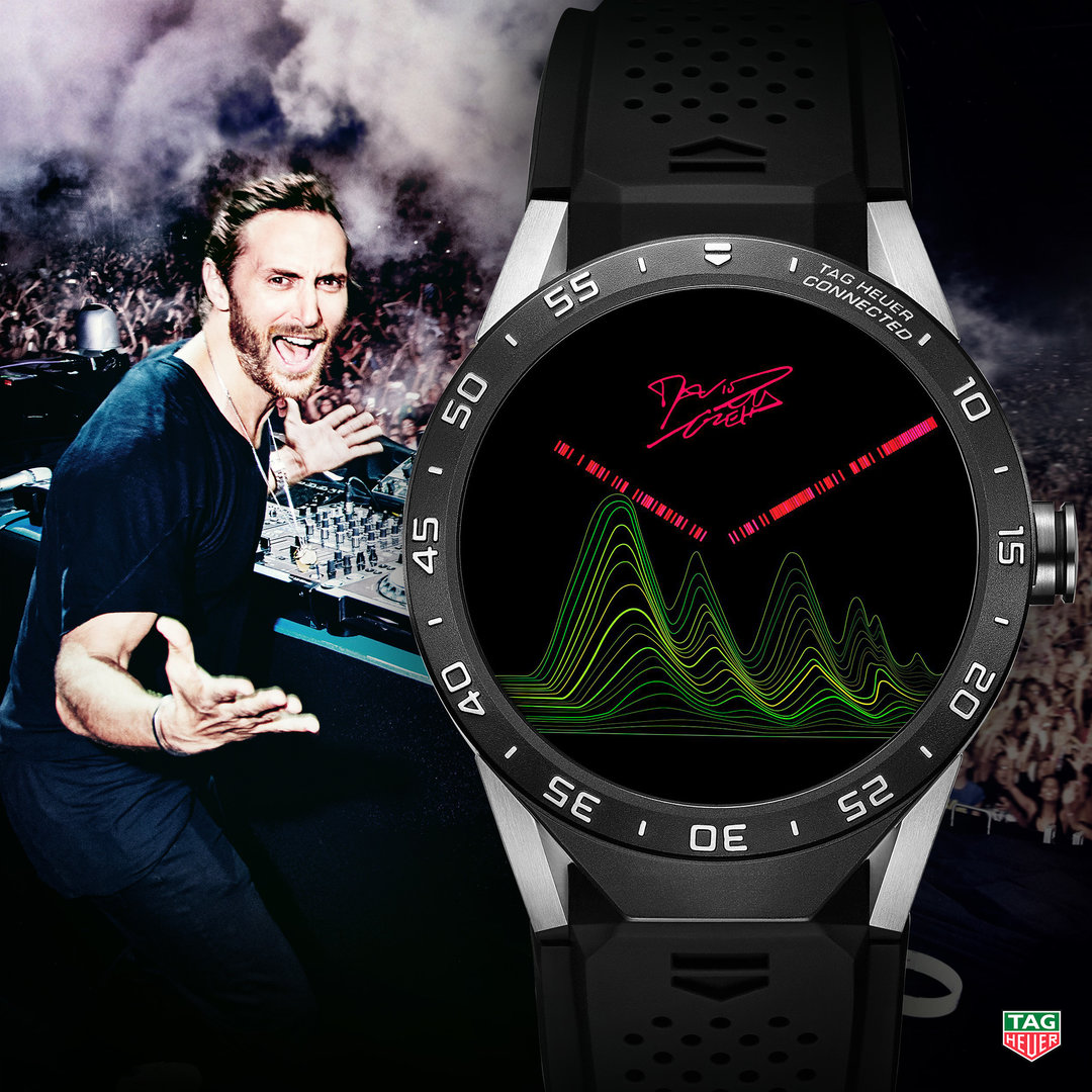 TAG Heuer Connected Watch Face David Guetta