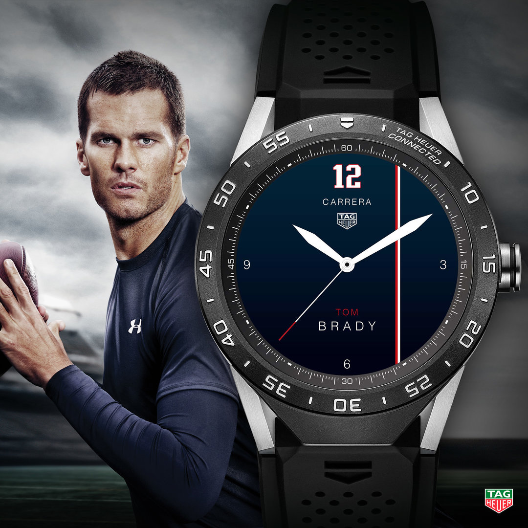TAG Heuer Connected Watch Face Tom Brady