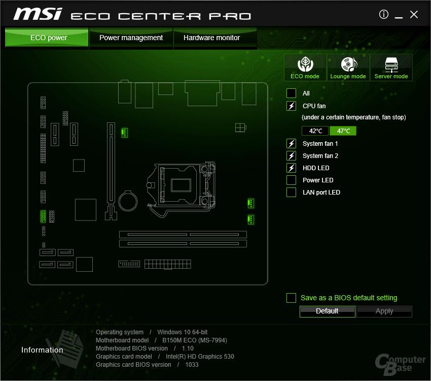 MSI ECO Center Pro