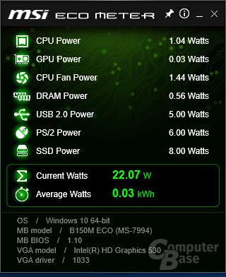 MSI ECO Meter
