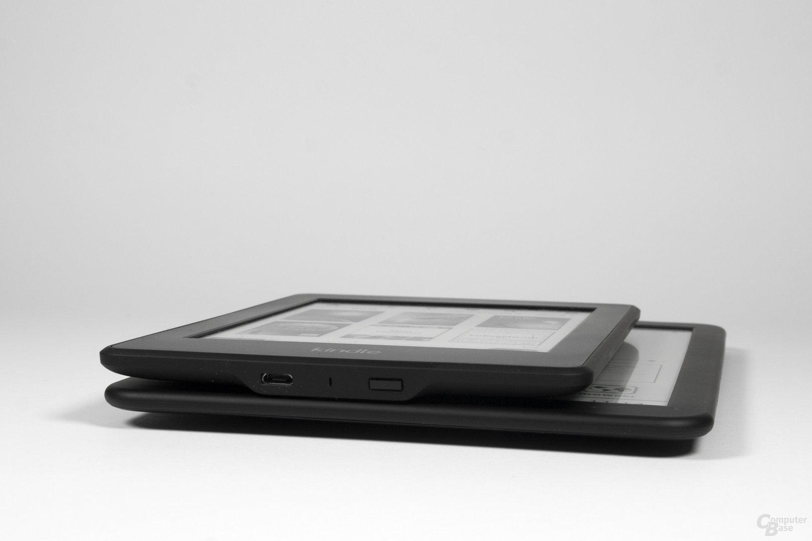 Größenvergleich Kindle Paperwhite vs. Icarus Illumina XL