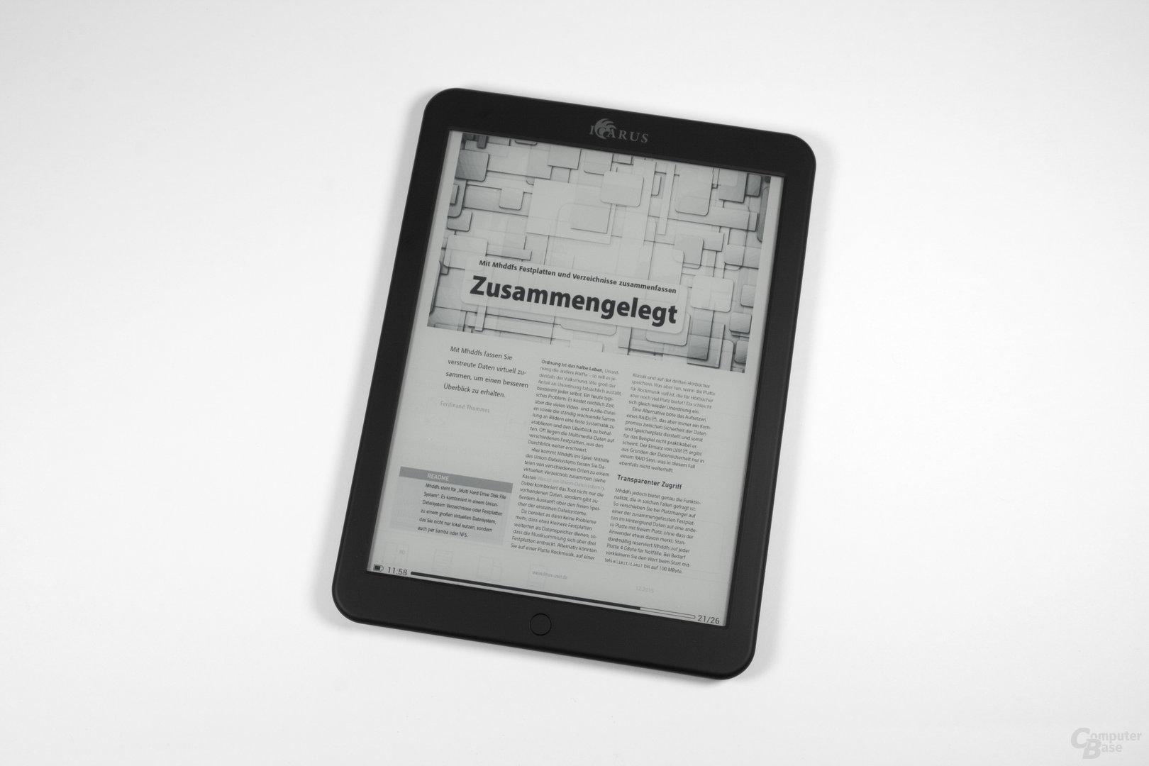 PDF-Darstellung beim Icarus Illumina XL