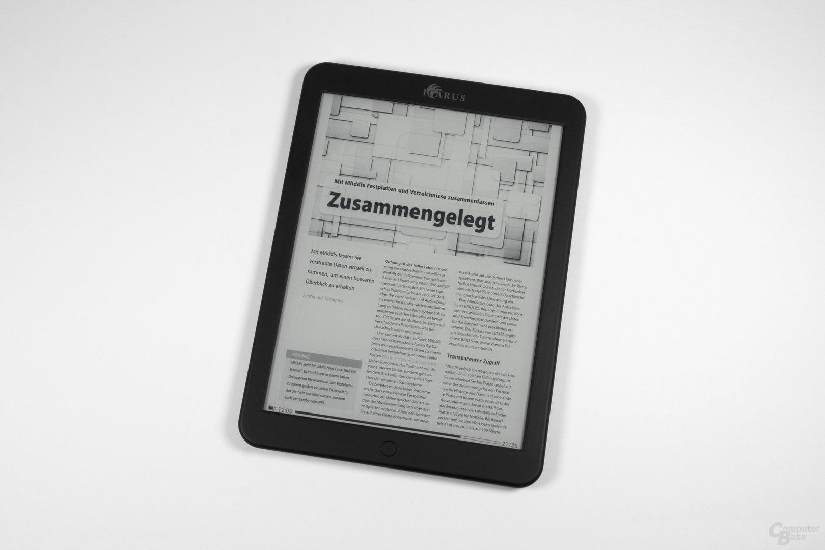 PDF-Cropping auf dem Icarus Illumina XL