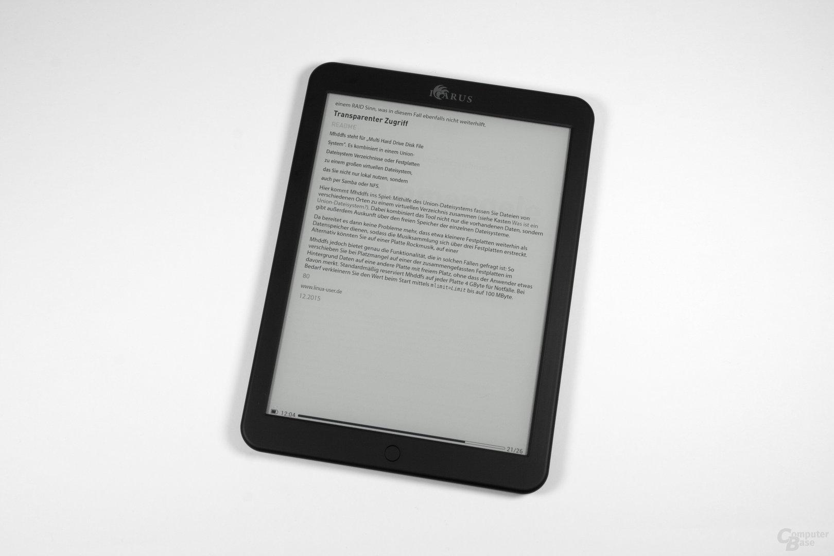 PDF-Reflow auf dem Icarus Illumina XL