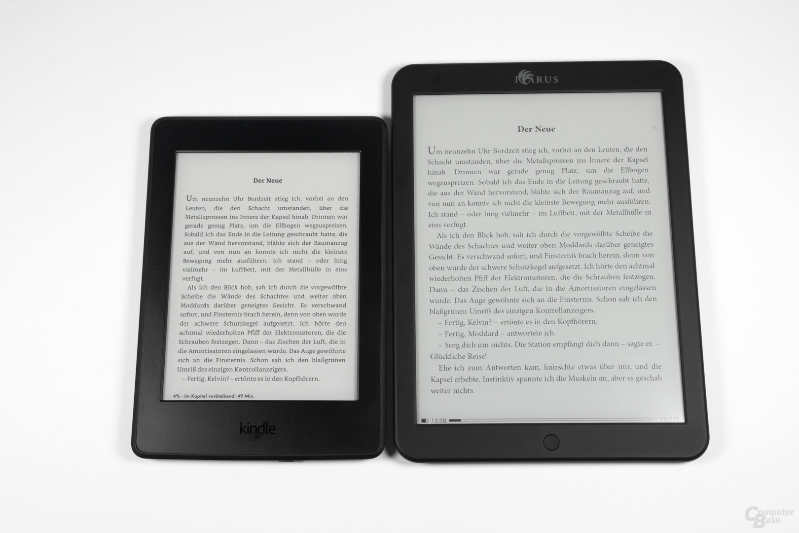 Schriftbildvergleich Kindle Paperwhite 2014 vs. Icarus Illumina XL (Adobe Reader)