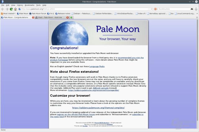 Pale Moon Startseite