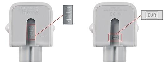 Betroffener (links) und neuer Stecker (rechts)