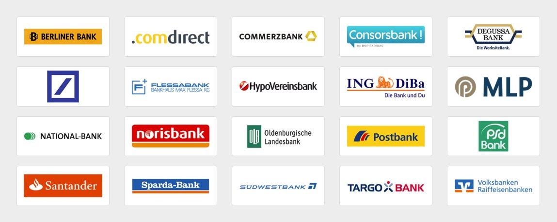 An paydirekt teilnehmende Banken