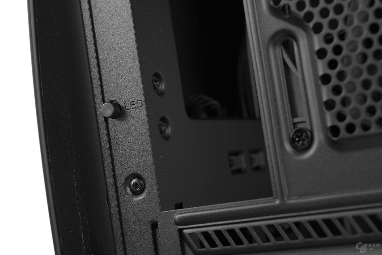 NZXT Manta – Knopf zum Ein- und Ausschalten der LED-Beleuchtung