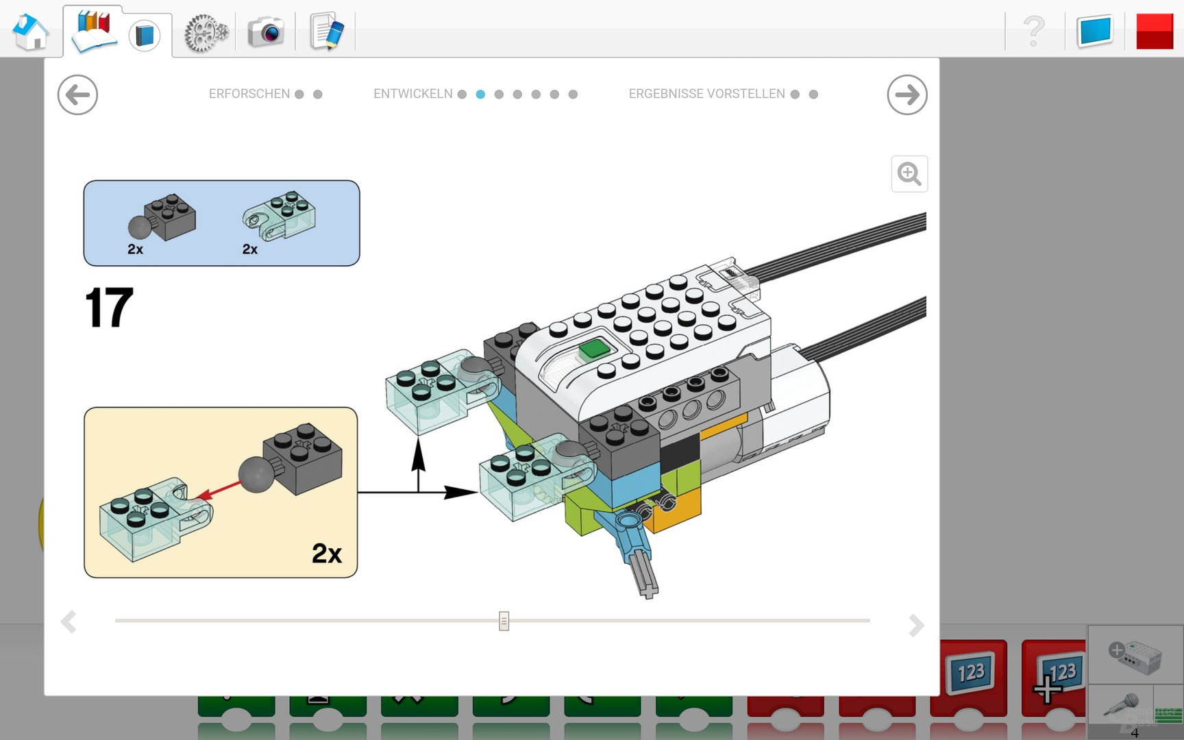 Lego WeDo 2.0 Android App – Virtuelle Bauanleitung