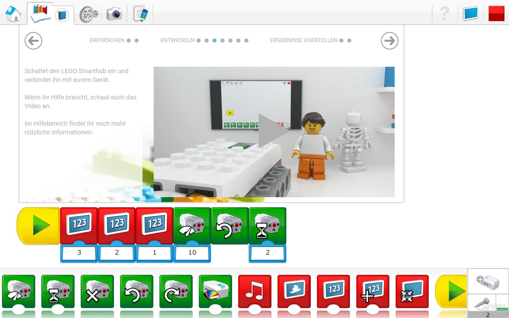 Lego WeDo 2.0 Android App – Programmablaufplan