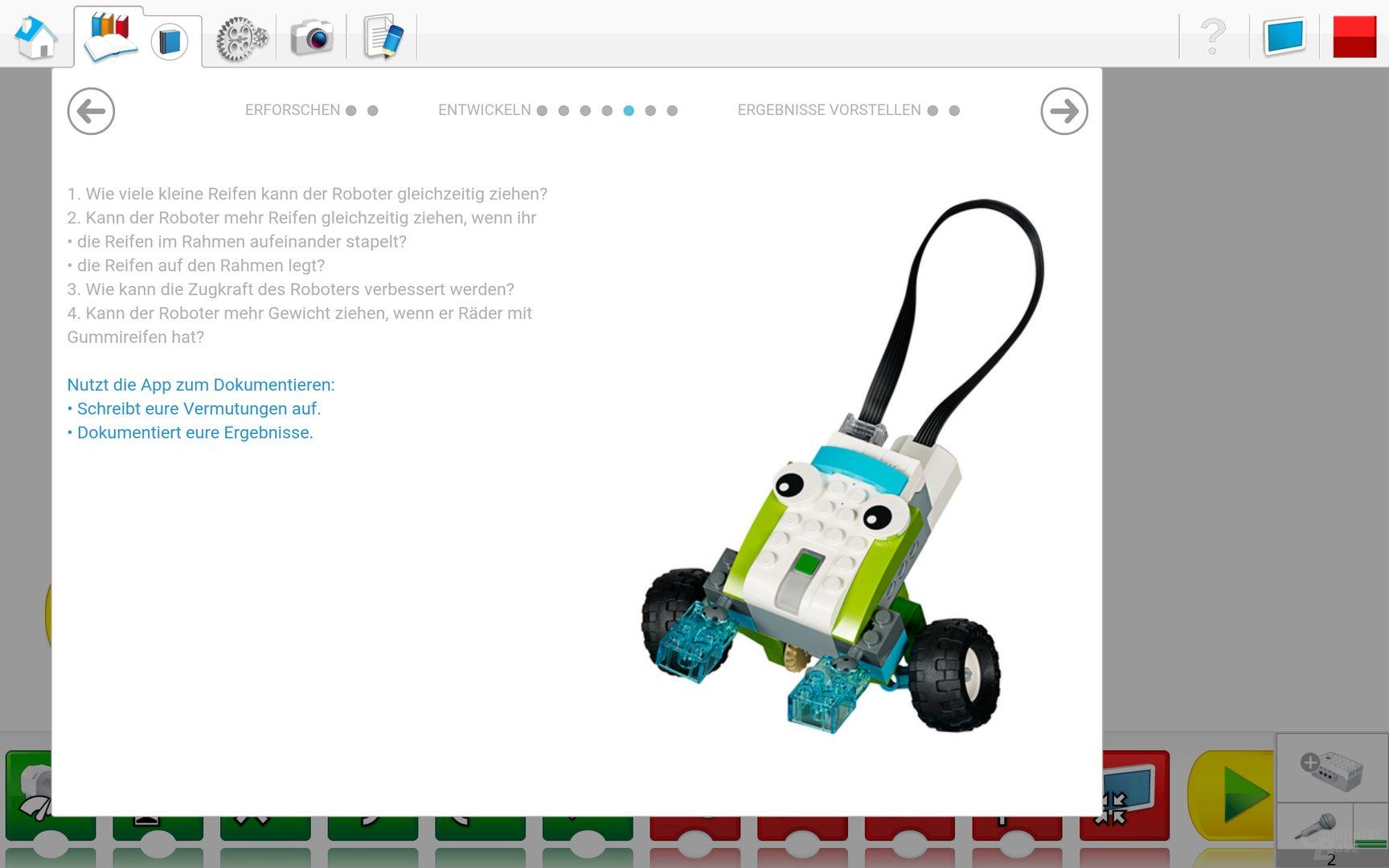 Lego WeDo 2.0 Android App – Weitere Fragen