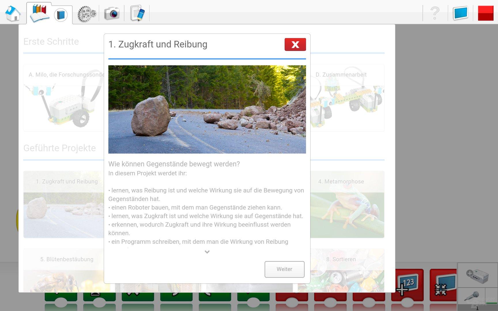 Lego WeDo 2.0 Android App – Projektinformationen