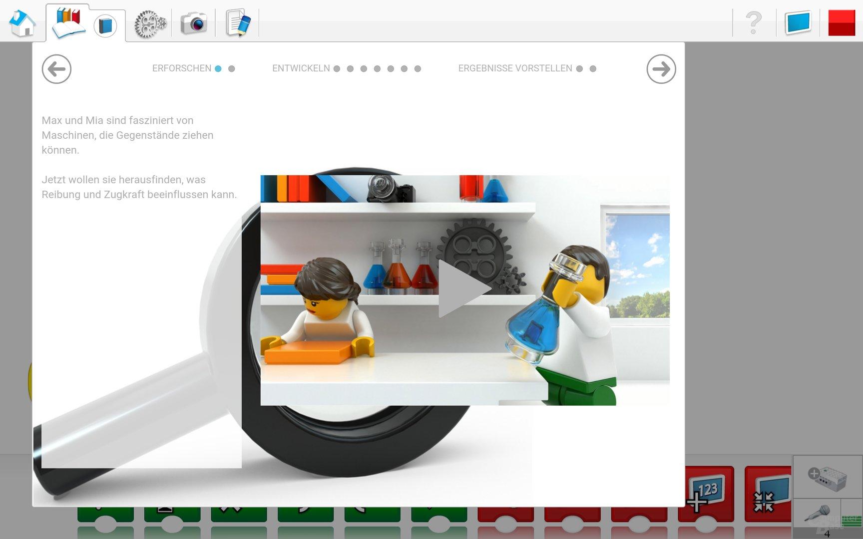 Lego WeDo 2.0 Android App – Projekteinführung