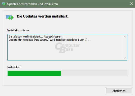 Windows Update – Installation