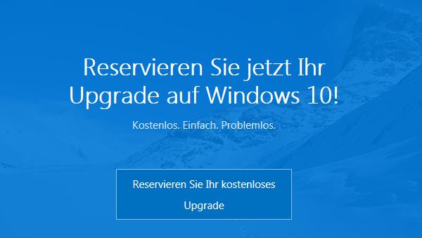 Windows 10: Countdown zum Upgrade für Reservierungen