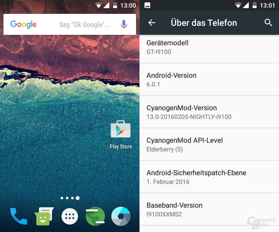 CyanogenMod 13 auf dem Galaxy S2