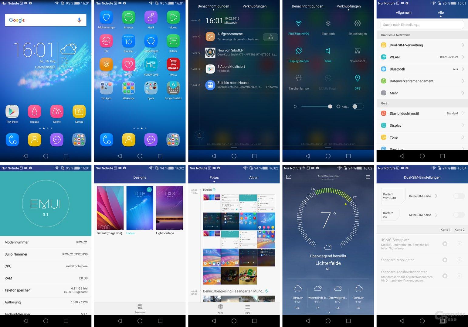 Android 5.1.1 mit Emotion UI 3.1