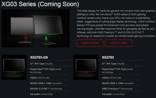 Die XG03-Serie mit 165 Hertz kommt später
