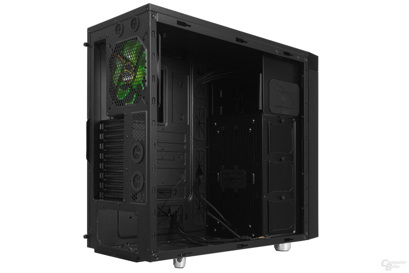Nanoxia CoolForce 2 – Seitliche Innenraumansicht