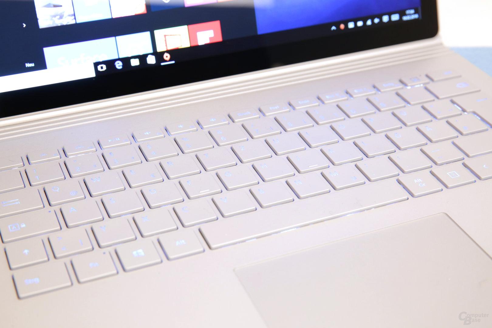 Tastaturbeleuchtung an
