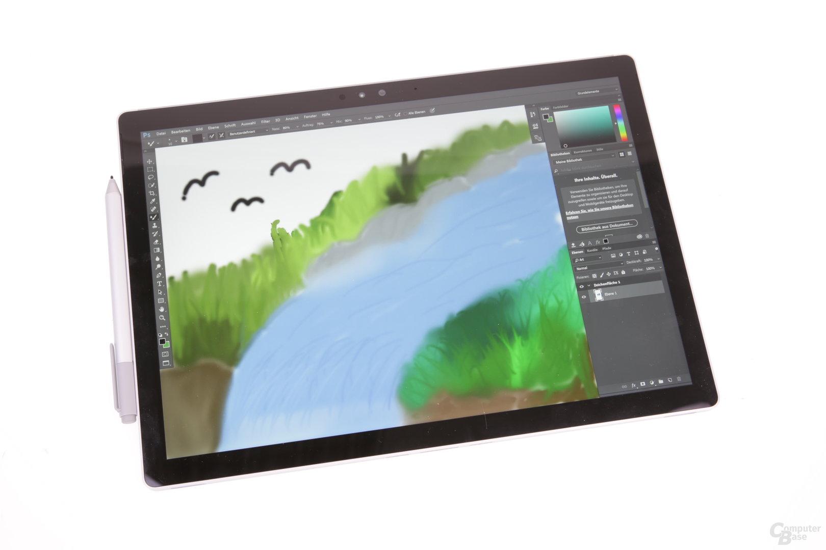 Auf dem Tablet lässt es sich gut zeichnen