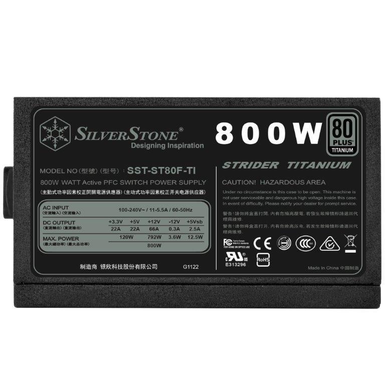 Das SilverStone ST70F-TI mit 80 Plus Titanium