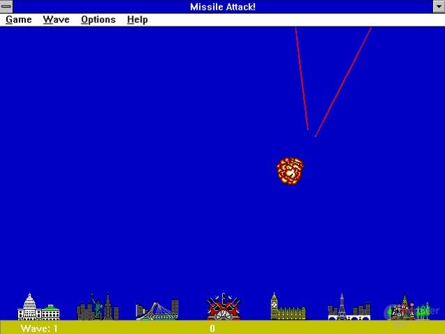 Missile Attack! ist ein sehr simples Spiel