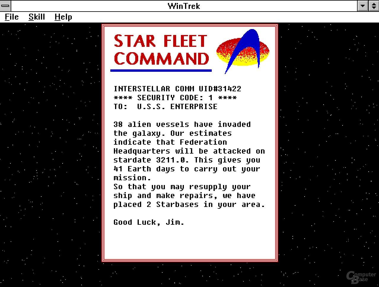 WintrekJ bringt Star Trek auf Windows 3.1