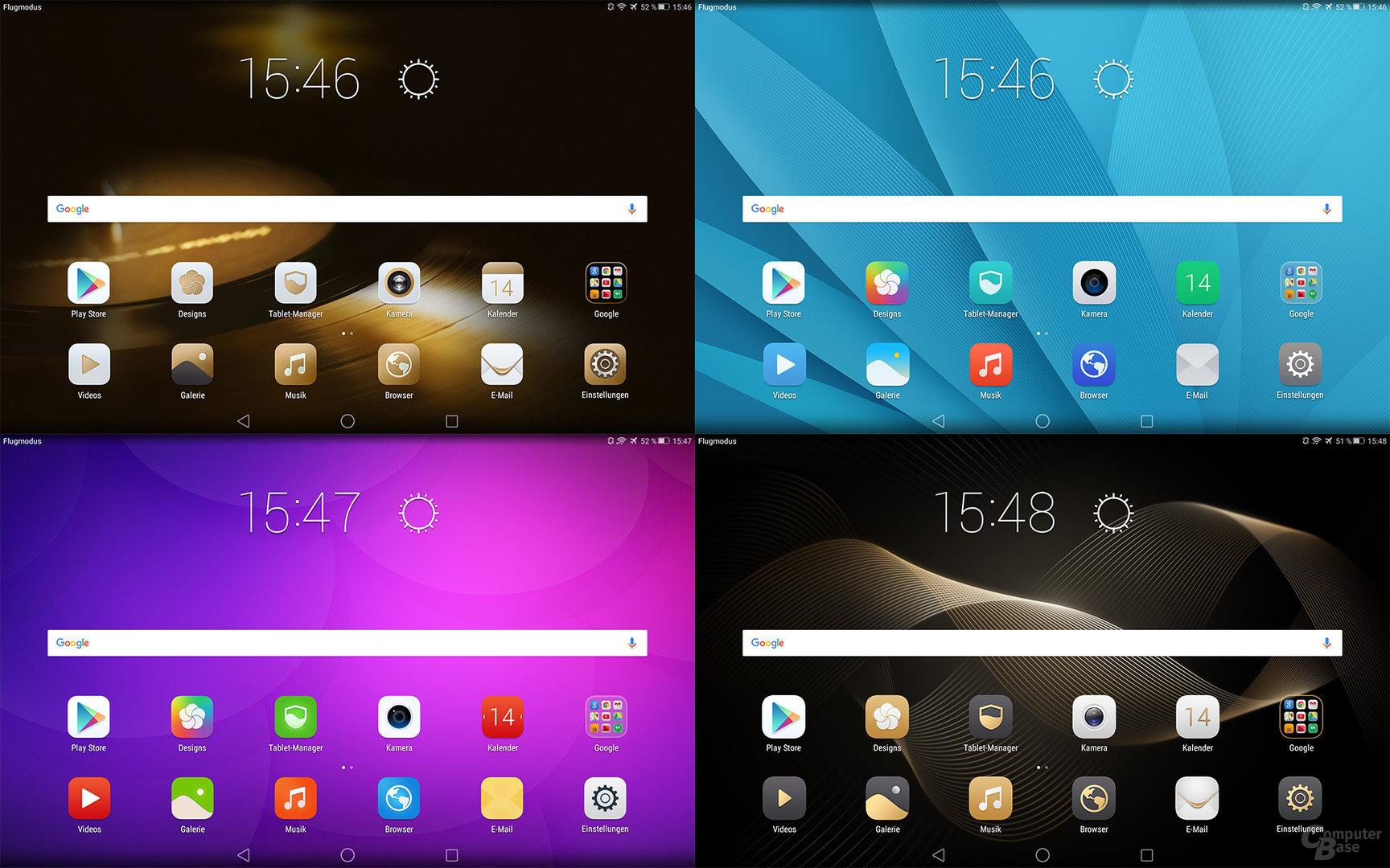 Diverse Themes auf dem Huawei MediaPad M2 10.0