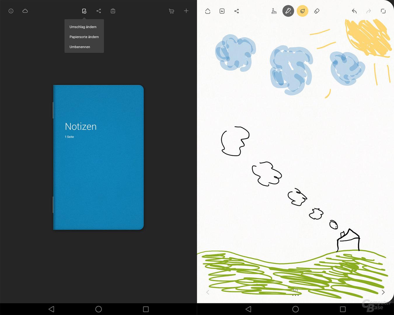 Notizfunktion des Huawei MediaPad M2 10.0