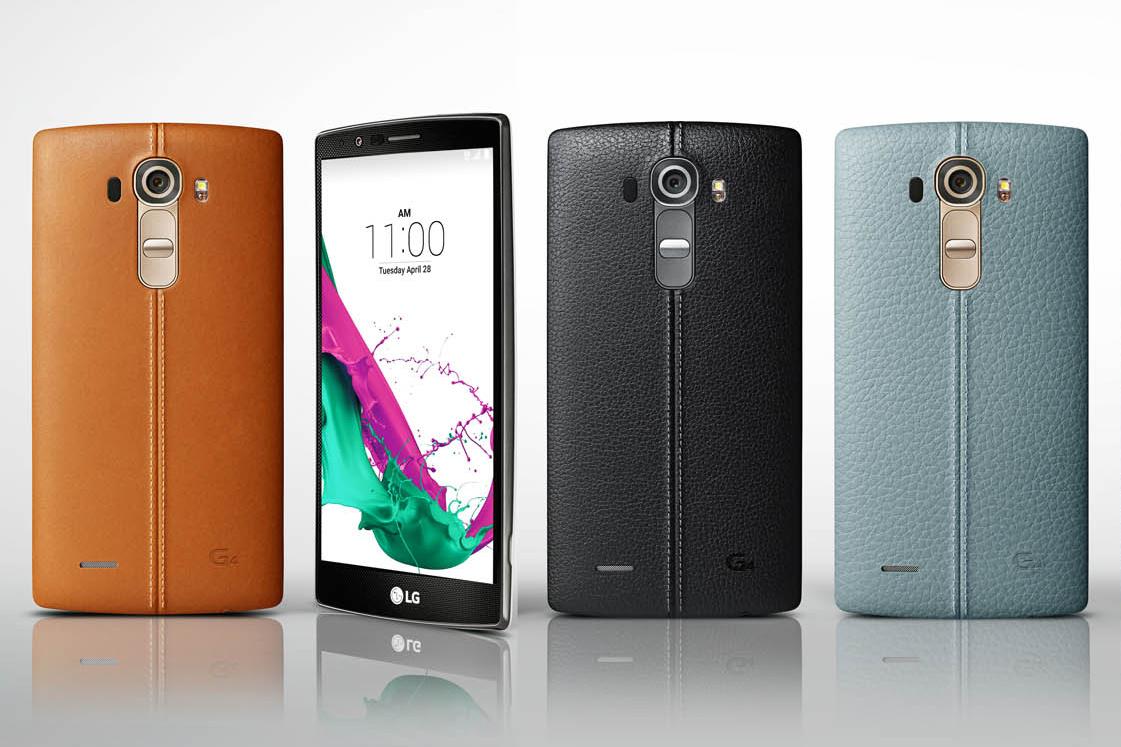LG G4 mit Rückseite aus Leder