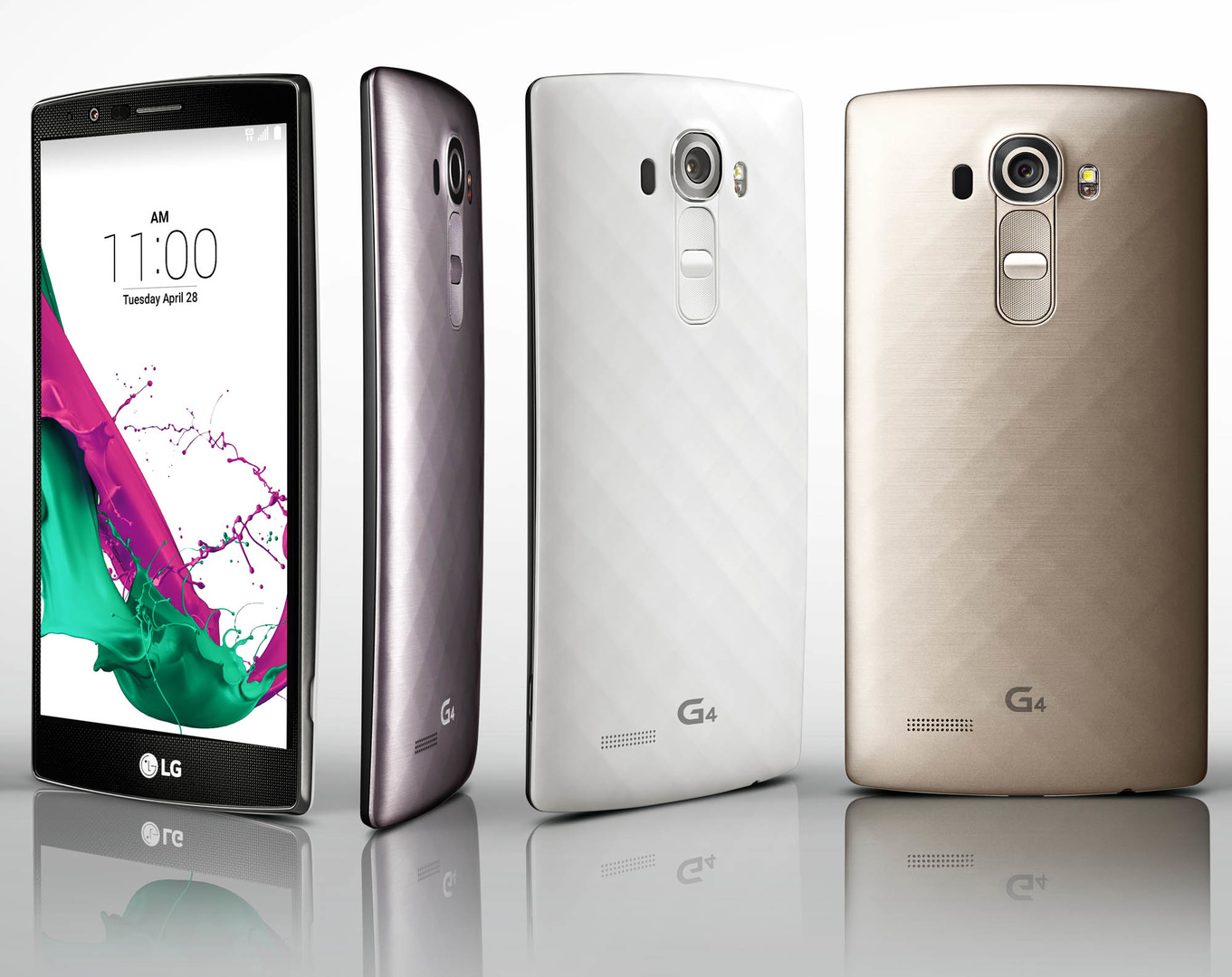 LG G4 mit Rückseite aus Kunststoff