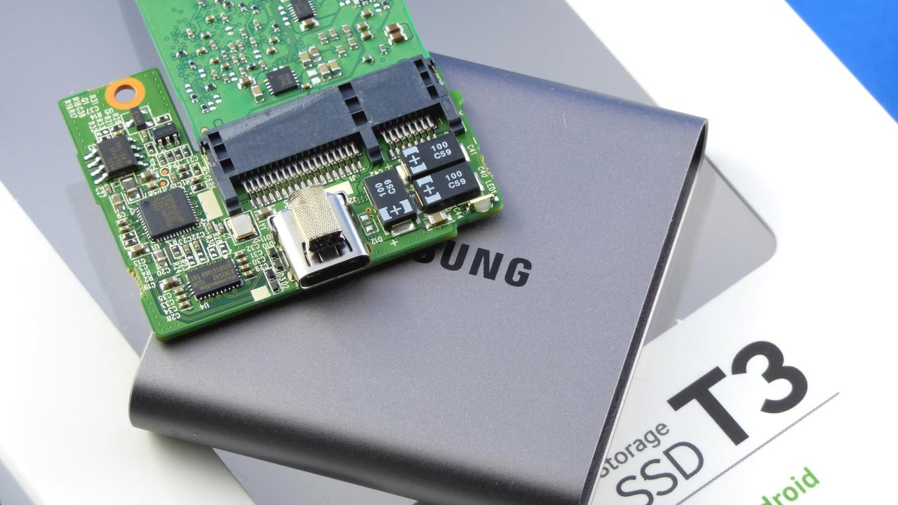 Samsung Portable SSD T3 im Test: Taschen-SSD mit 2TByte, Metall und USBTypC
