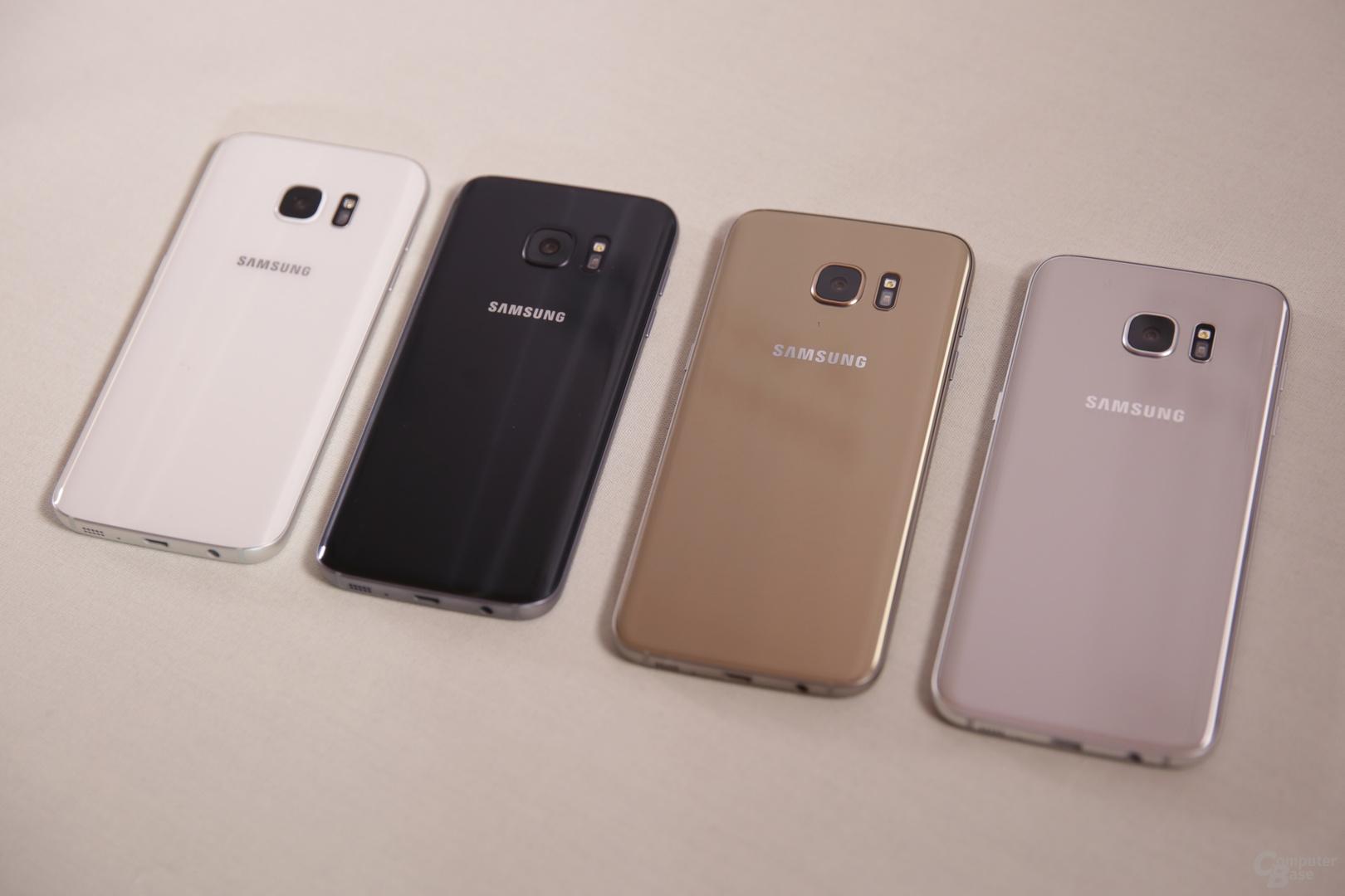 Galaxy S7 (edge) kommt in Schwarz, Weiß, Silber und Gold